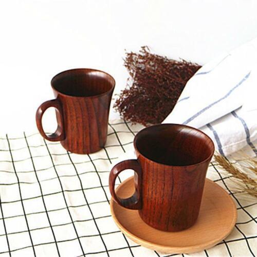 Wood Retro Jujube Drink Mug Special Office Beer Jucie Cup Water With Handle 64TE