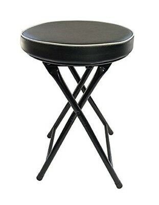 Astounding Ethels Home Goods Light Weight Padded Folding Stool Black Cushioned Metal Frame 689016982373 Ebay Creativecarmelina Interior Chair Design Creativecarmelinacom