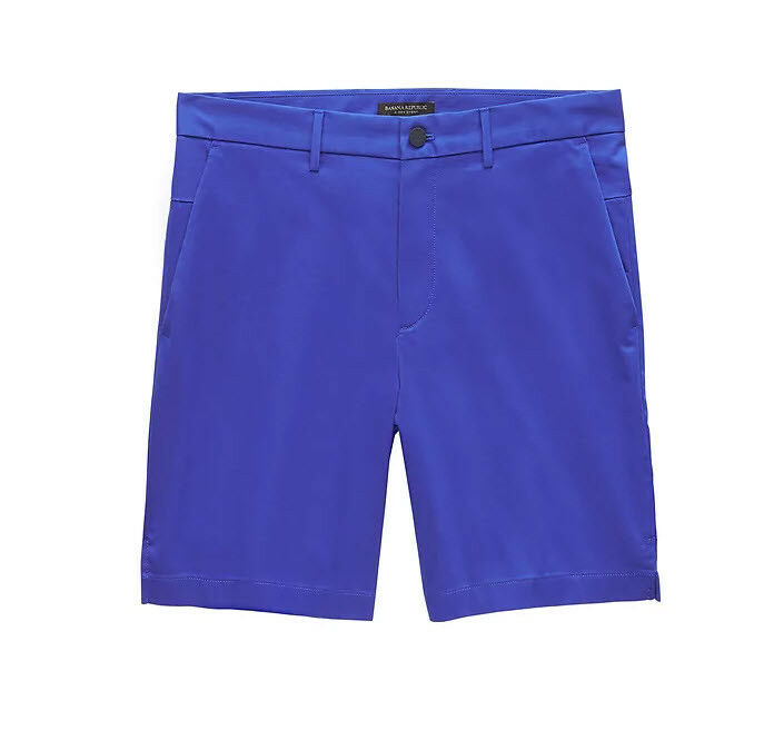 BANANA REPUBLIC MENS 9  Core Temp Aiden Slim Short-Electric bluee- SIZE - 35 W