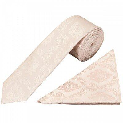 Fatto A Mano Rosa Paisley Skinny Uomo Cravatta E Fazzoletto Cravatta Sottile Da Matrimonio-mostra Il Titolo Originale