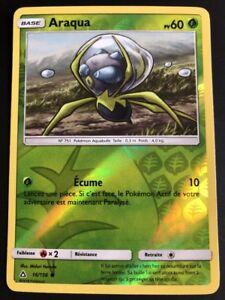 Carte-Pokemon-ARAQUA-16-156-REVERSE-Soleil-et-Lune-5-SL5-FR-NEUF