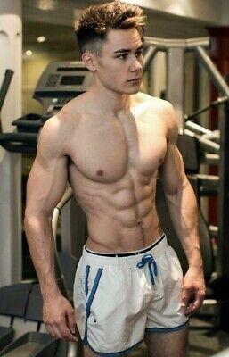 shirtless male beefcake muscular gym fitness workout jock