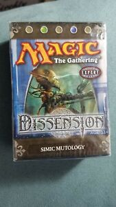 "MTG Dissension Magic Theme Deck /""Simic Mutology/"" Preconstructed Starter"