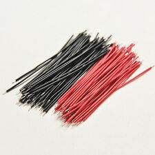 100pcs Motherboard Breadboard Jumper Cable Wires Experiment Test Tinned 5CMff