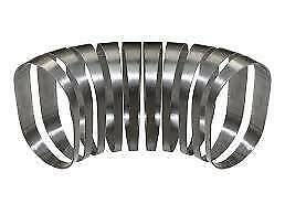 "Proflow SS304OPV-312 Pie Cut Oval Tubing Stainless Steel 3.5"", 50mmx110mm vert"