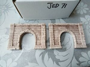 2x single tunnel  - Z scale gauge- painted and weathered- ..concrete Type JED71