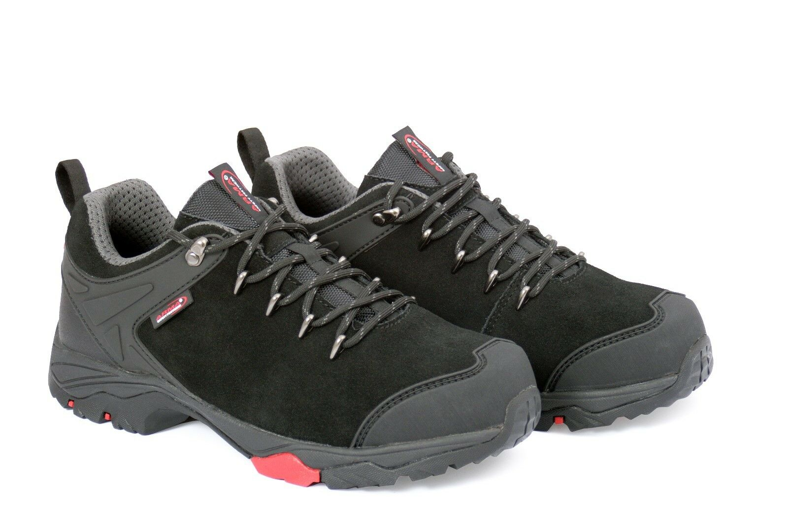 Arma Work A4 Foxhound Negro Leather Work Arma Safety Trainers Zapatos Steel Toe Mid Sole SRA dc1163