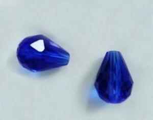 Wholesale-8x12mm-Faceted-Deep-Blue-Crystal-Teardrop-Gems-Loose-Beads-15-034