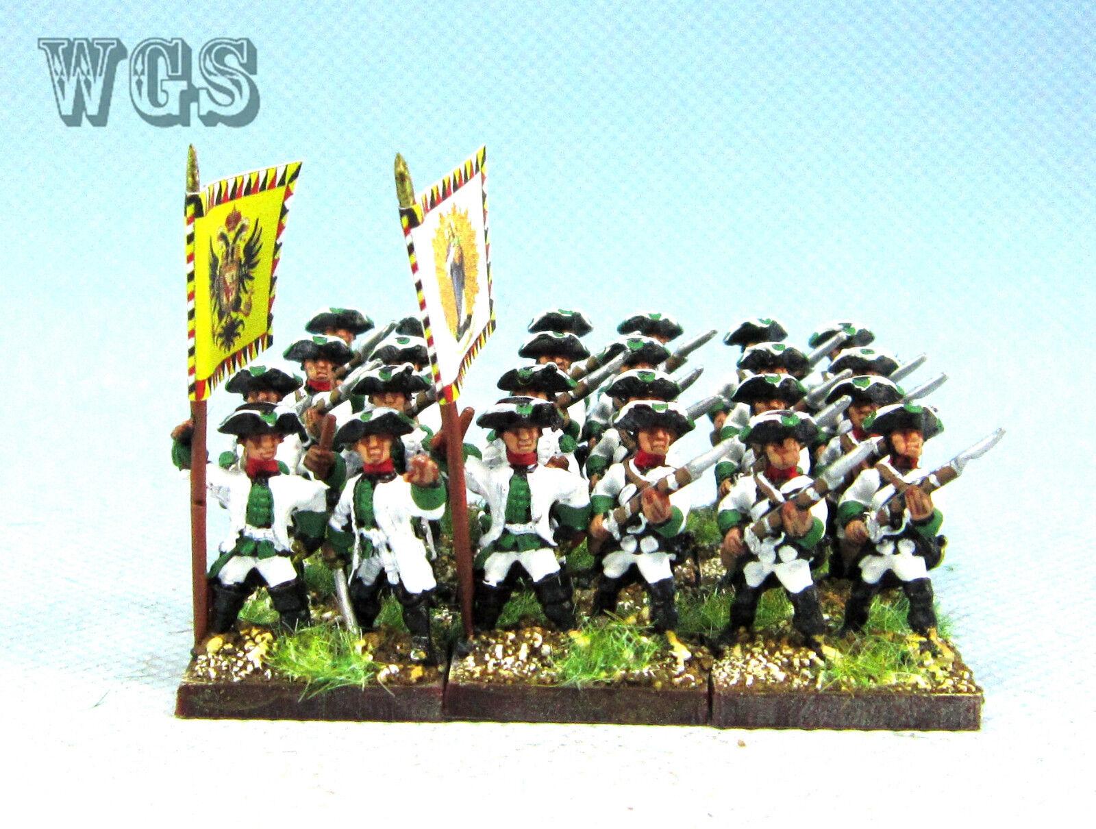 15mm Syw Seven Years War un Pintado austríaco Mosquetero batallón AA21