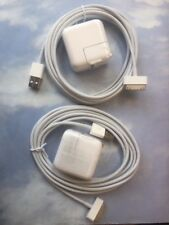 LOT of SIX 10 Watt 2.1 AMP Wall Charger for iPad 1//2//3  and sync CABLE