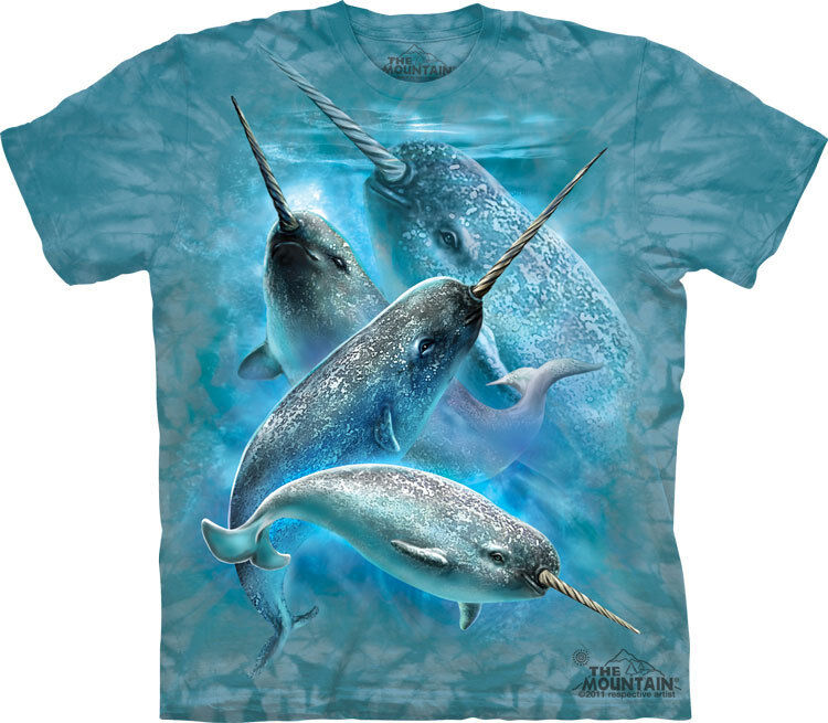 NEW NARWHALS Narwhale Sealife Marine The Mountain T Shirt Adult Sizes