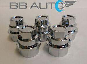 5 New Chrome Lug Nut Covers Caps Chevy Gmc Silverado 1500
