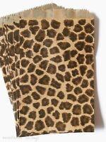 100 Black & Brown Leopard Design,animal Print Flat Merchandise Bags 6 X 9 Inches