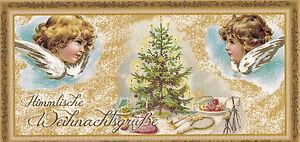 Himmlische Weihnachtsgrüße.Details Zu Xxl Postkarte Engel Und Geschenke Himmlische Weihnachtsgrüße Glimmer Karte