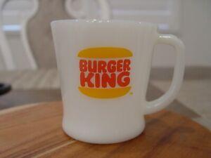 Fire-King D Handled BURGER KING HAMBURGERS Advertising Coffee Mug | eBay