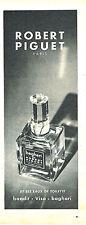 PUBLICITE ADVERTISING 025  1956  ROBERT PIGUET  eau de toilette BAGHARI