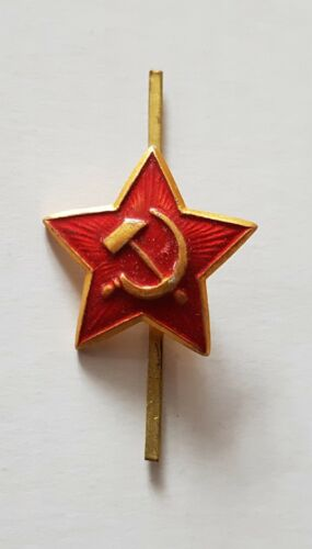 SOVIET UNION SMALL ARMY CAP BADGE USSR Russian Pilotka Warsaw Pact Hammer Sickle