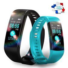 Montre Connectée Bleue Smartwatch Bracelet étanche Bluetooth Android Apple