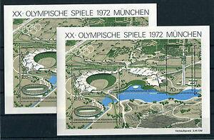 Bund-Block-7-postfrisch-2-Stueck-BRD-723-726-Olympische-Spiele-Muenchen-1972