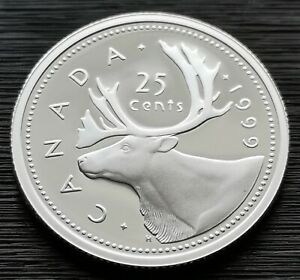 CANADA-25-CENTS-1999-PROOF-HEAVY-CAMEO-STERLING-SILVER