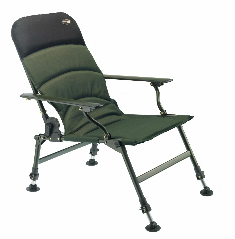PRO CARP Karpfenstuhl mit Armlehnen Angelstuhl Anglerstuhl Modell 7100