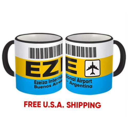 Argentina Ezeiza Airport Buenos Aires EZE Mug Travel Airline Pilot Gift