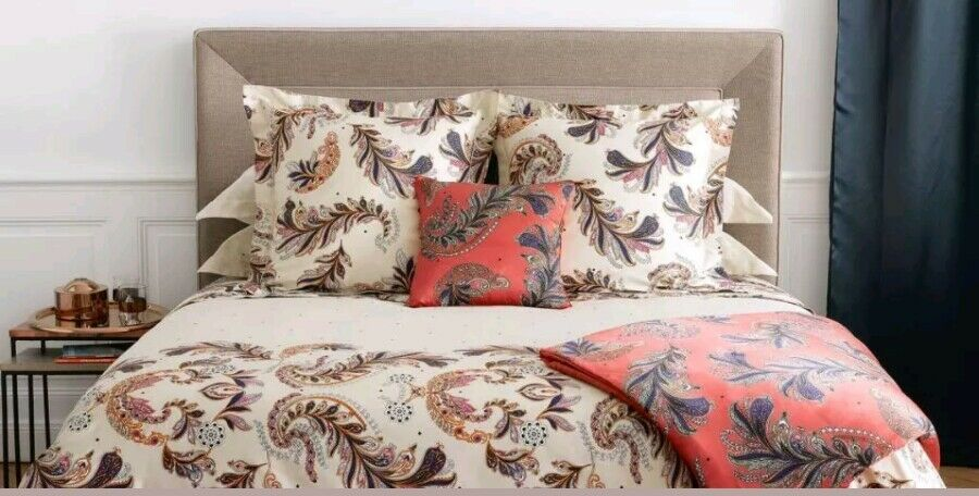 NEW YVES DELORME PARURE SELECTION  DUVET COVER, FLAT SHEET, SHAMS AND DECO