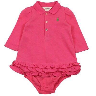 BRAND NEW BABY GIRLS DESIGNER RALPH LAUREN PINK POLO DRESS KNICKERS 6 MONTHS