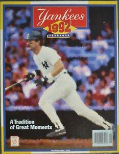 1992 NEW YORK YANKEES YEARBOOK DON MATTINGLY