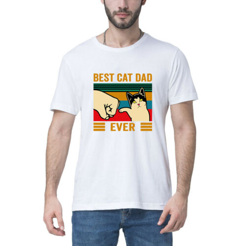 Best Cat Dad Ever Vintage Men/'s T-Shirt Father/'s Day Gift Tee Pet Lover Shirt