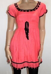 Sweetacacia-Brand-Orange-Shirring-Waist-Gypsy-Dress-Size-14-BNWT-TP80
