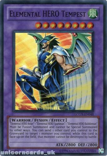 LCGX-EN048 Elemental HERO Tempest Super Rare UNL Edition Mint YuGiOh Card