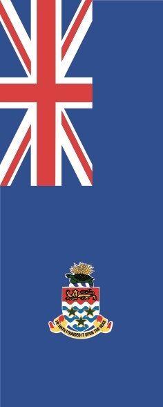 Fahne Flagge Cayman Inseln im Hochformat verschiedene Größen