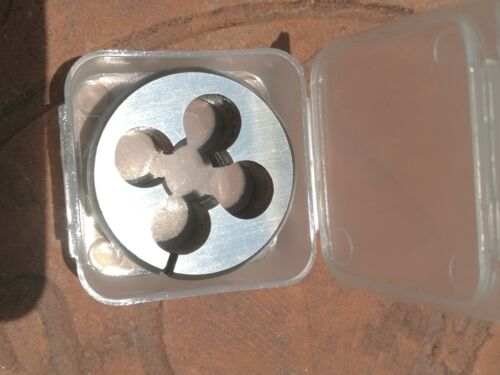 "M12 X 1.25 RH HSS OD 1/"" split screw adjustable Die button TS M2"
