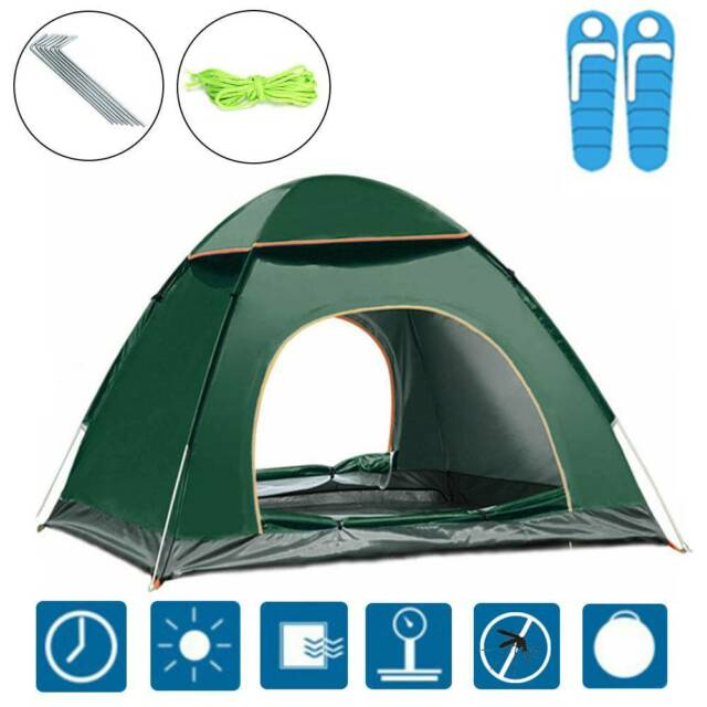 2-4 Person Man Tent Waterproof Pop up Instant Portable Beach Fishing Groundsheet