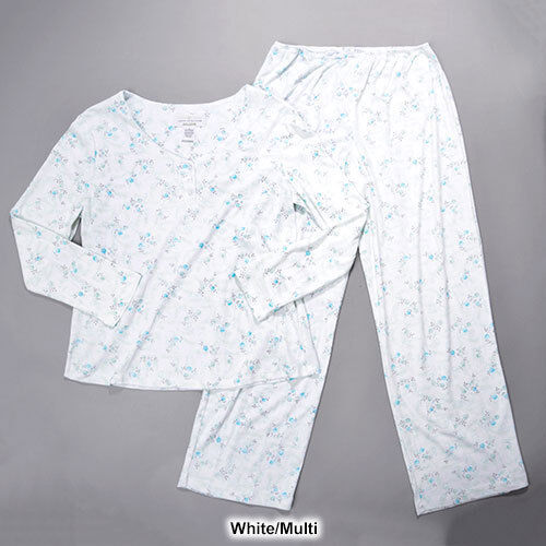 NWT KAREN NEUBURGER FLORAL L S 2 PC SLEEP PAJAMA LONG PANTS SET 2X 2XL MSRP