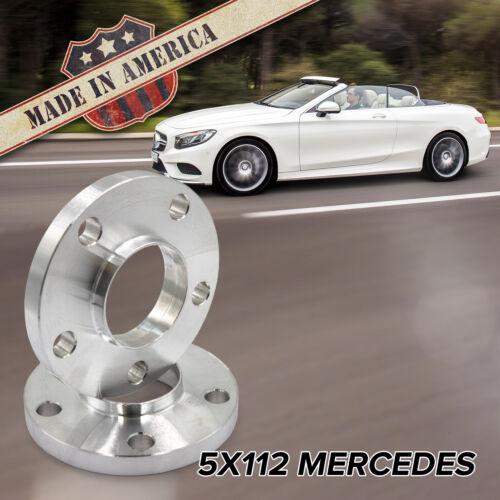 Fits Mercedes 15mm Hub Centric Billet Wheel SpacersUSA MADE 2pc5x112