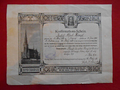 100% QualitäT Konfirmations-schein Evang.-luth.pfarramt Der Andreasgemeinde Zu Leipzig,den 28 Autogramme & Autographen Politik, Adel & Militär Perfekte Verarbeitung