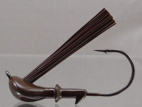 Unskirted Weedless Light Wire DC Arky Jig w//Gamakatsu Hook Brown Colors
