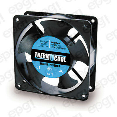 72/85 Cfm Ball 110v 60hz #g12038mab Temperate Fan Axial Thermocool 120x120x38mm