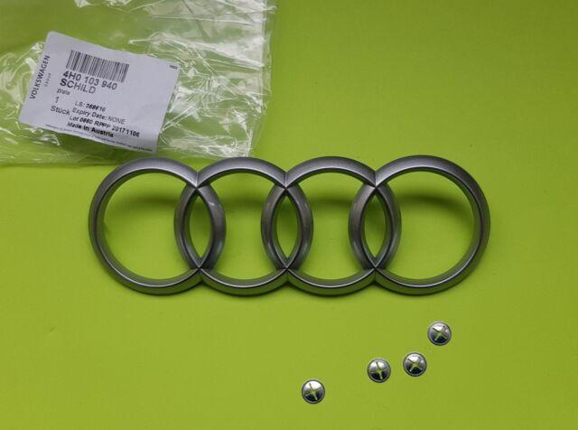 Genuine Audi A4 A5 A6 A8 Q5 Q7 S4 RS4 4H0103940 165x57 con el logotipo de emblema de Cubierta del motor