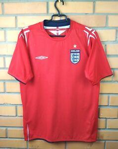 England Jersey 2004 2006 Away MEDIUM Shirt Football Umbro Trikot Maglia Soccer
