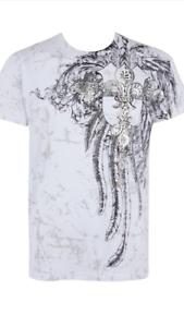 Designer Mens T Shirts Pour Hommes Métal Motard Gothique Punk Tatouage Art Style T Shirt