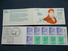 FN1A £1.43 LM POSTAL HISTORY JAMES CHALMERS GB BOOKLET UMFB28