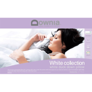 DOWNIA-White-Collection-Duck-Down-Pillow-Washable-5-Year-Guarantee-RRP199-95