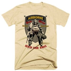 Military-Retro-T-Shirt-Army-Airborne-Infantry-Combat-Veteran-Paratrooper-Tee