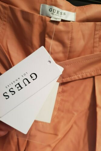 Guess Nwt Pantaloncini stile donna ecopelle in con Peach cintura da Uk8 Us6 BHqqw5