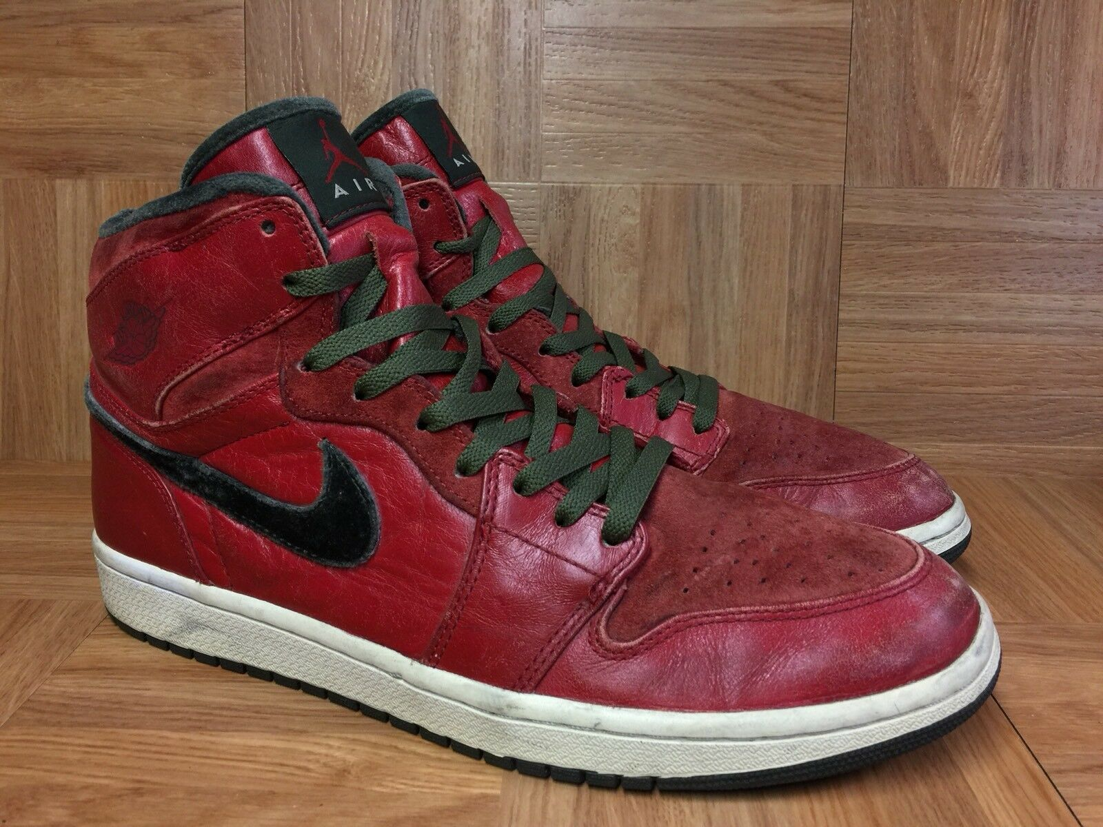 RARE Nike Air Jordan 1 Retro Hi Premier Varsity Red Army Sz 12 332134-631 Mens
