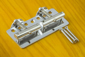 Genuine-Fender-Telecaster-039-51-Bass-Bridge-with-Saddles