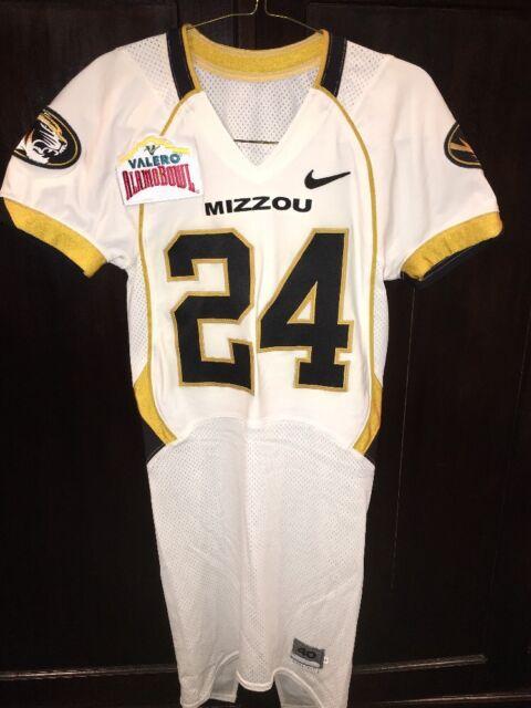 19eb1e74cfc Game Worn Used Missouri Tigers Mizzou Football Jersey #24 Size 40 Alamo Bowl